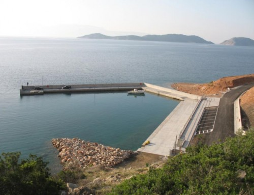 Construction of the St. Nicholas port of Thisvi, Viotia
