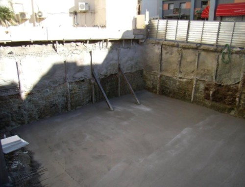 Design and Construction of Temporary Excavation Works with piles for the Construction of Underground Basements