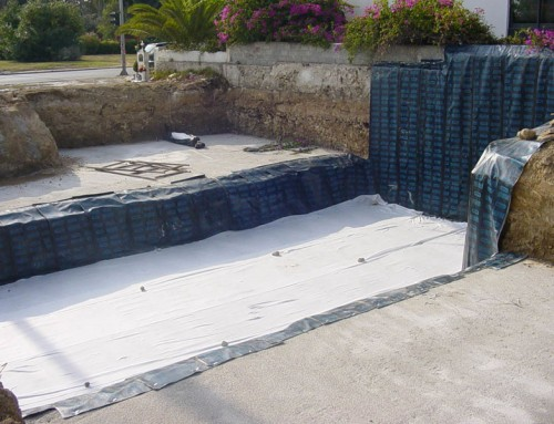 Design and Construction of basement waterproofing in residential building in Voula, Attica