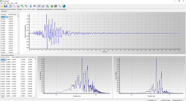 SeismoSignal - Eπεξεργασία Xρονοϊστοριών Eπιτάχυνσης