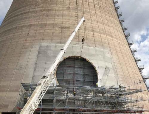 Εργασίες Ενίσχυσης και Διάνοιξης Οπής σε Πύργο Ψύξης στην Κοζάνη